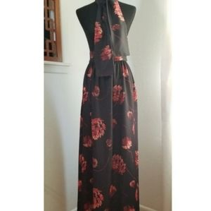 Dresses & Skirts - Vintage 1960's Floral Maxi Skirt and Tie